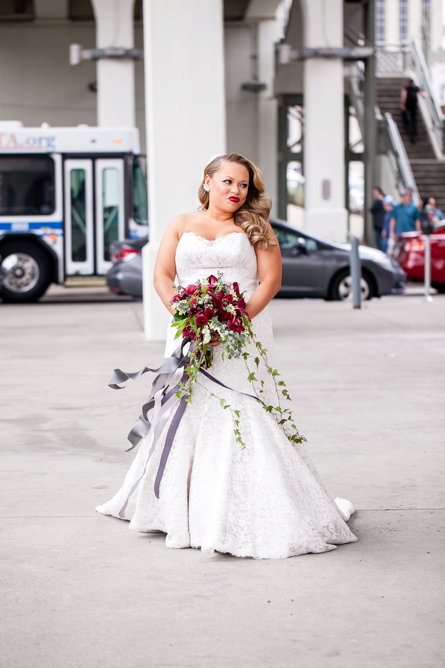 A Jewel Toned and Gold Industrial Nashville Wedding via TheELD.com