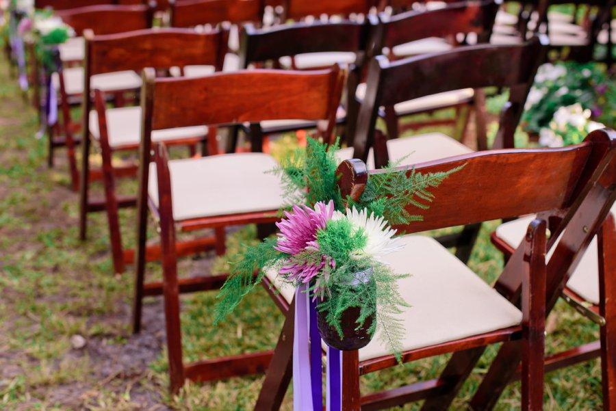 A Purple & Green Woodland Inspired Wedding via TheELD.com