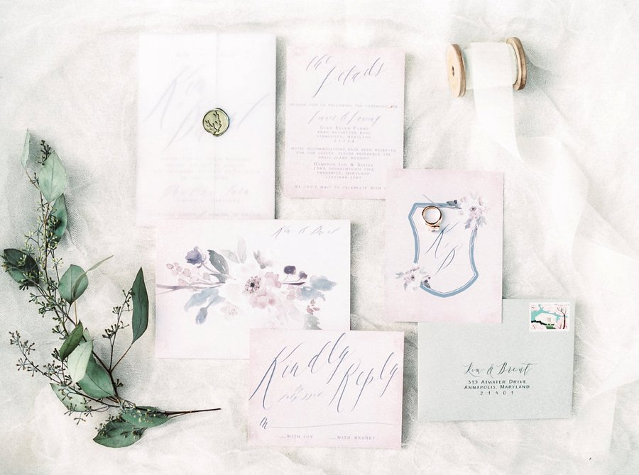 A Relaxed Bohemian Blush & Blue Maryland Wedding via TheELD.com