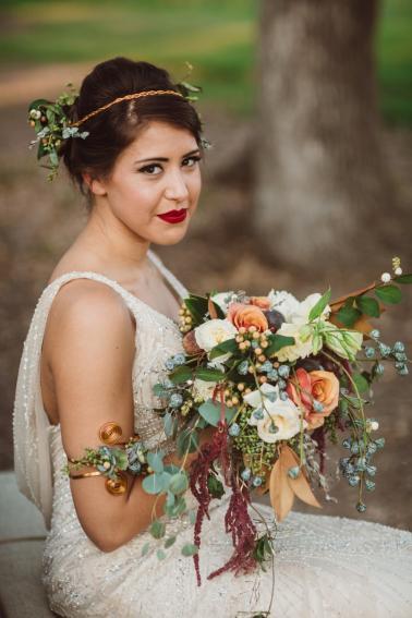 Plum, Peach, & Teal Art Inspired Wedding Ideas via TheELD.com