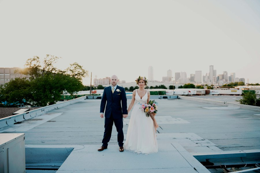 A Colorful Floral inspired Industrial Dallas Wedding via TheELD.com