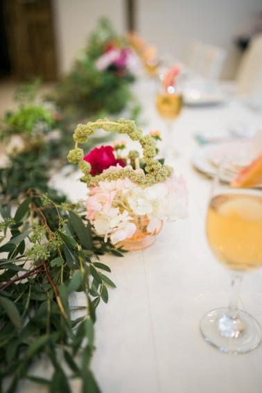 Colorful Summer Floral & Citrus Wedding Ideas via TheELD.com