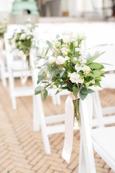 An Elegant Pink & White Brooklyn Wedding via TheELD.com