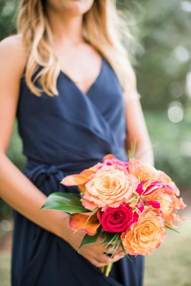 A Tropical Orange & Green Florida Destination Wedding via TheELD.com
