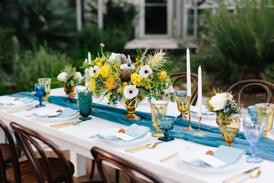 Eclectic Desert Inspired Yellow & Teal Wedding Ideas via TheELD.com