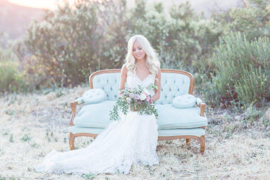 Romantic Blush & Lavender Southern California Wedding Ideas via TheELD.com