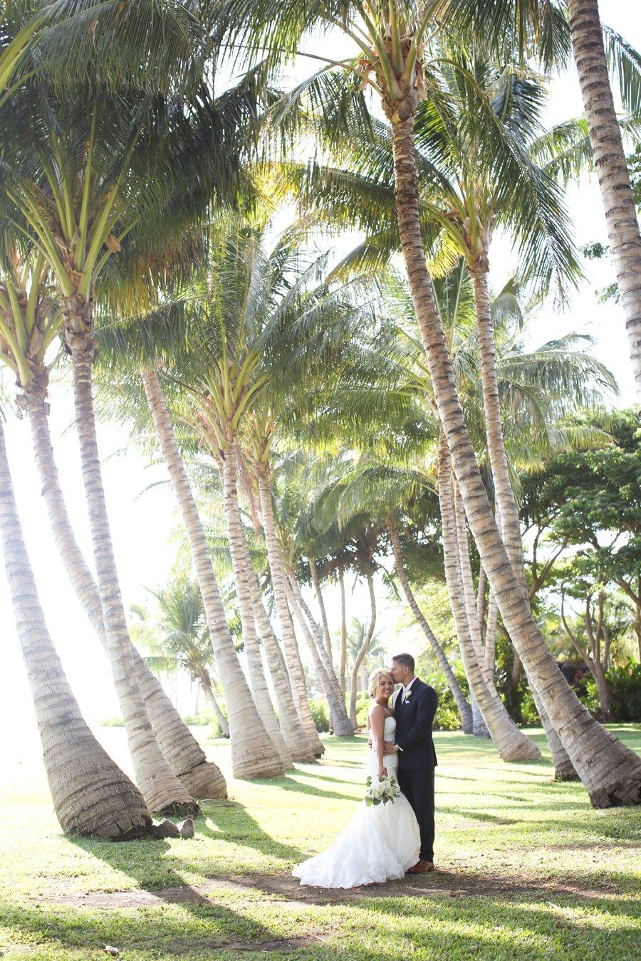 A Rustic Blush & White Intimate Maui Destination Wedding via TheELD.com