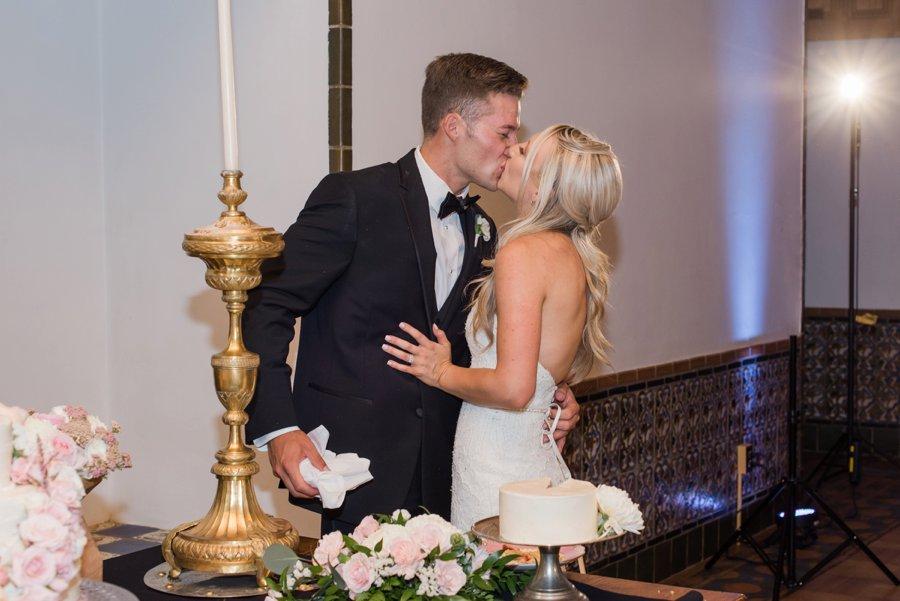 A Romantic Pink & White New Mexico Wedding via TheELD.com