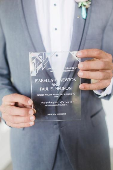 Modern Pink & Purple Iridescent Wedding Ideas via TheELD.com
