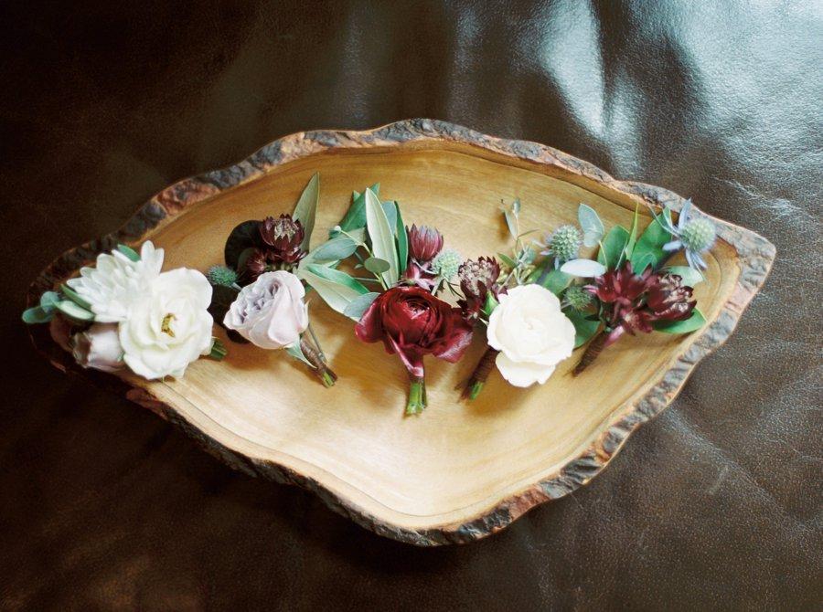 A Burgundy & Blush Elegant Rustic Colorado Wedding via TheELD.com