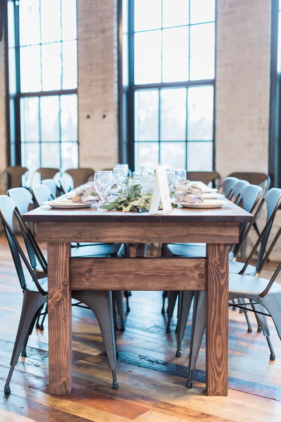 A Blush & Navy Rustic Industrial Michigan Wedding via TheELD.com