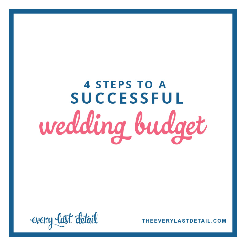 4 Steps To A Successful Wedding Budget via TheELD.com