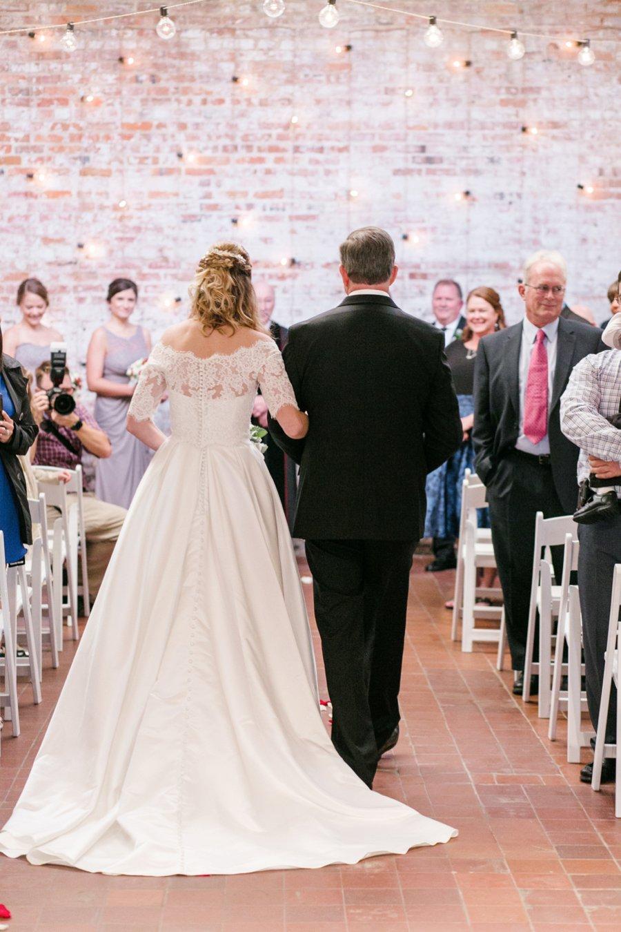 A Gray, Green, & Red Wintery North Carolina Wedding via TheELD.com