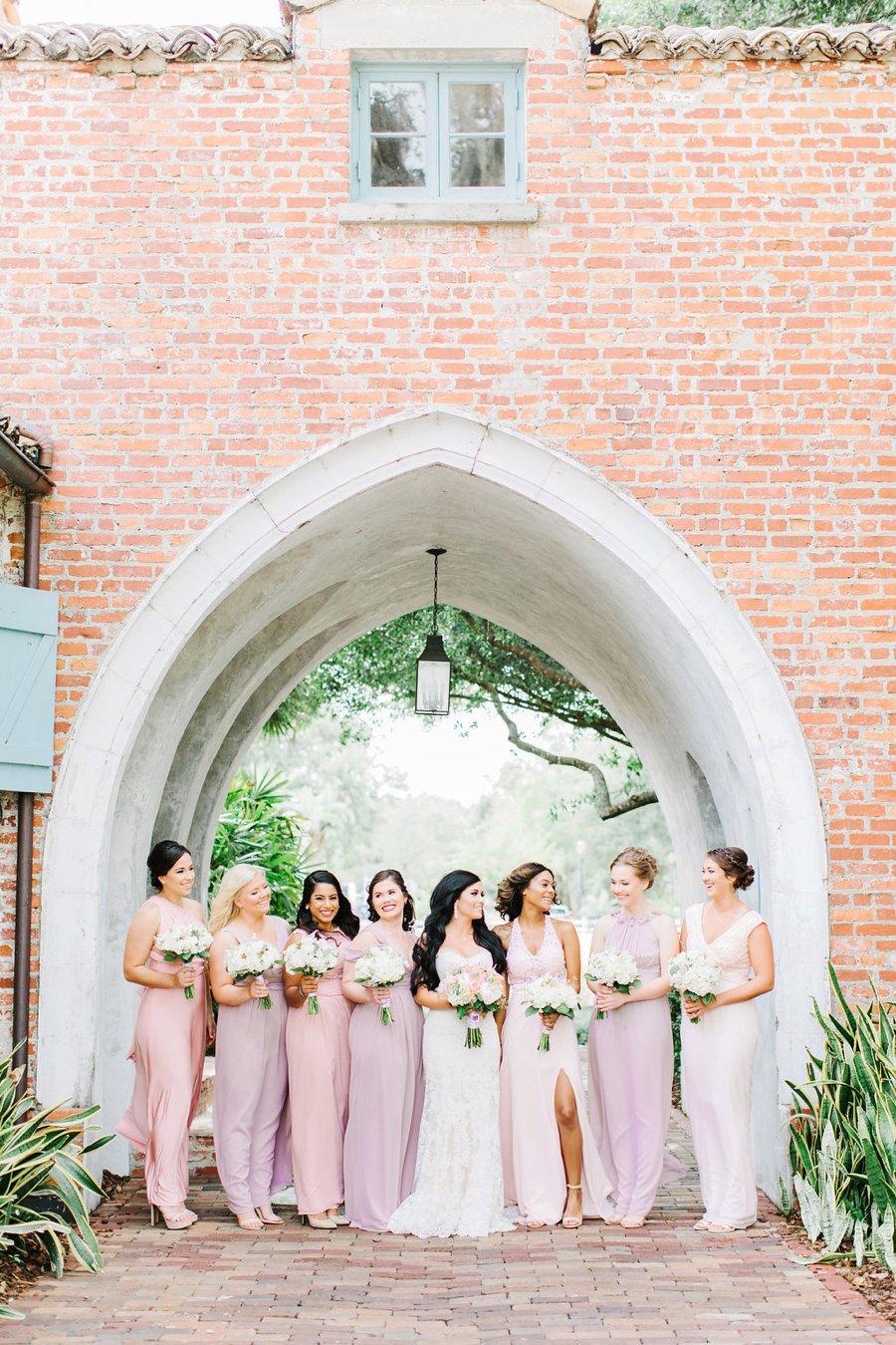 Romantic Pink, Coral & Gold Florida Wedding via TheELD.com
