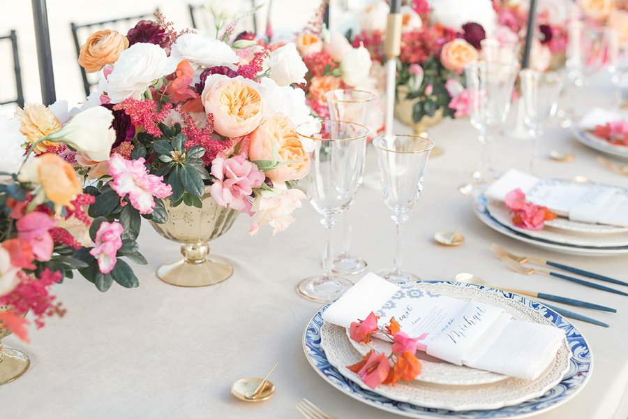Colorful & Elegant Spanish Inspired California Wedding Ideas via TheELD.com