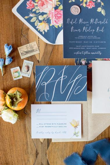 Colorful Blue & Yellow Eclectic North Carolina Wedding Ideas via TheELD.com