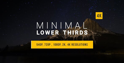 Minimal Lower Thirds 15002451