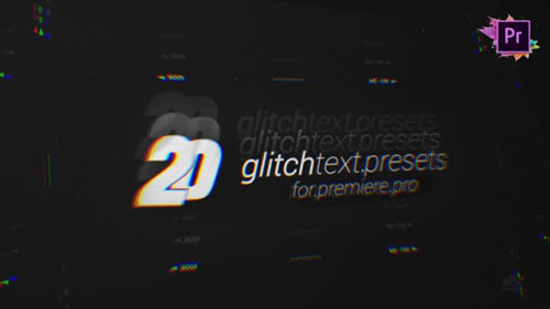 20 Glitch Text Presets Pack For Premiere Pro MOGRT 26974957