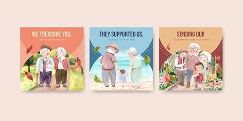 Ads Template with National Grandparents Day