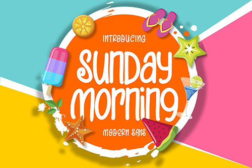 Sunday Morning | Modern Sans Font