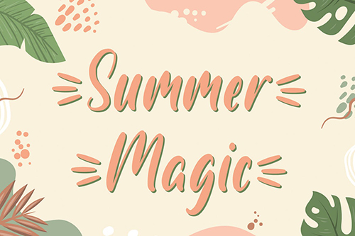 Summer Magic - Handwritten Font