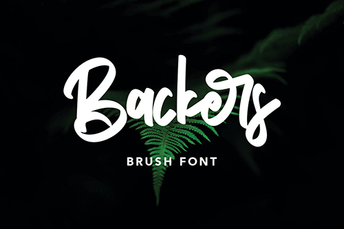 Backers Brush Font