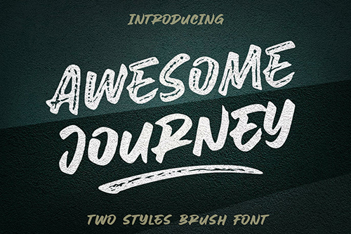 Awesome Journey - Brush Font