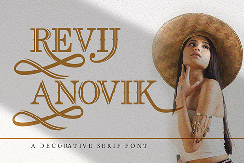 Revij Anovik - Decorative Serif Font