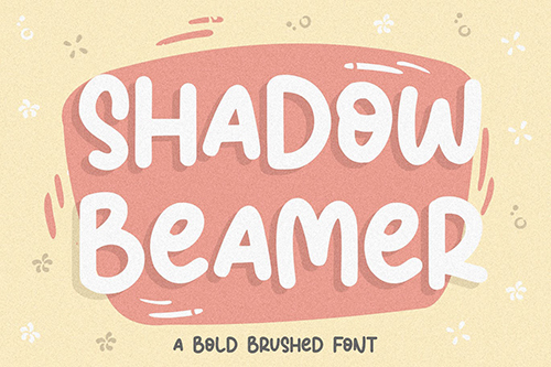 Shadow Beamer YH - Monoline Brush Font