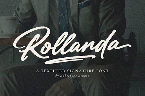 Rollanda - Textured Signature Font