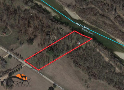 3.6 acres Brazos River Home Place Aerial