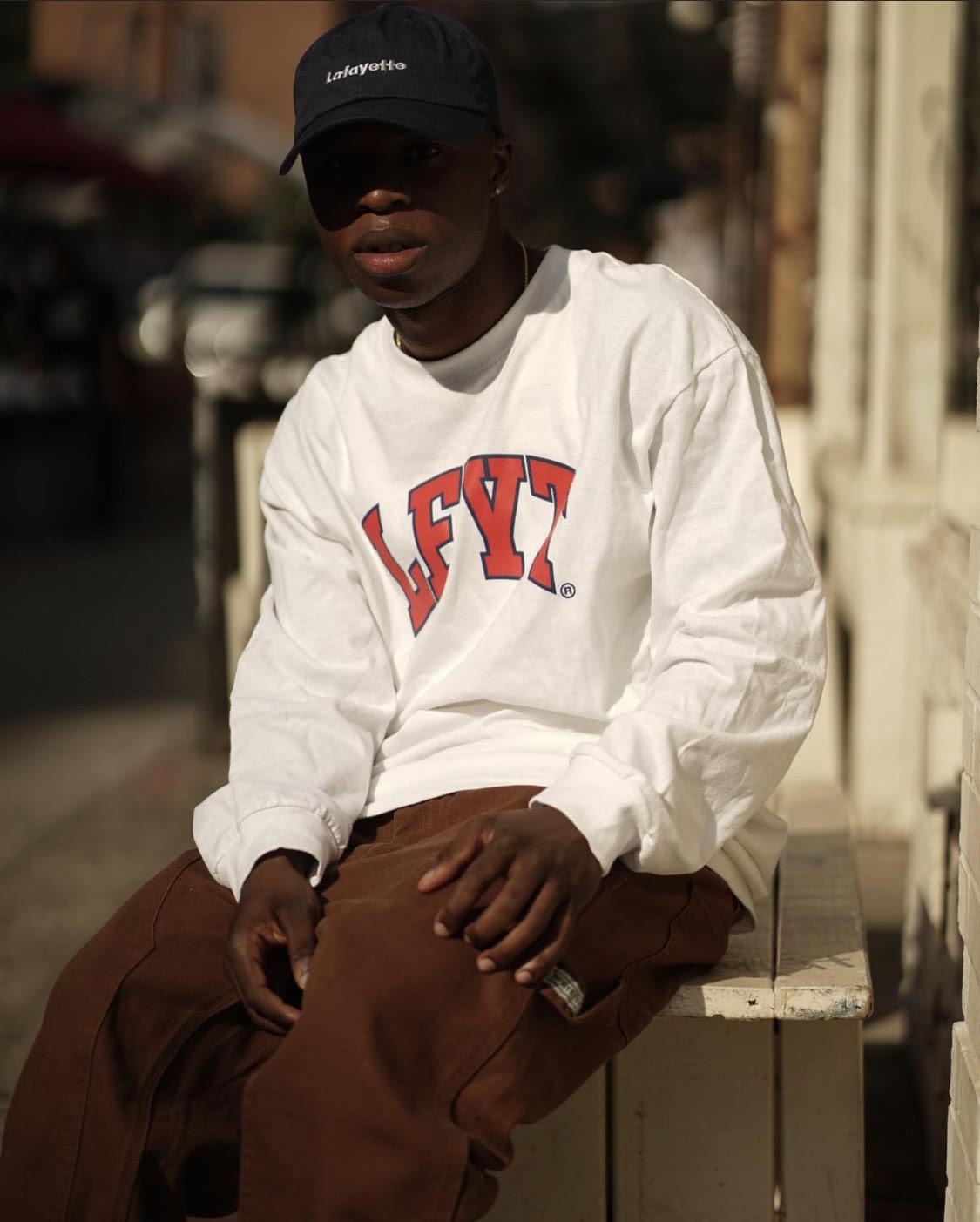 Hdx24 in lfyt white sweatshirt