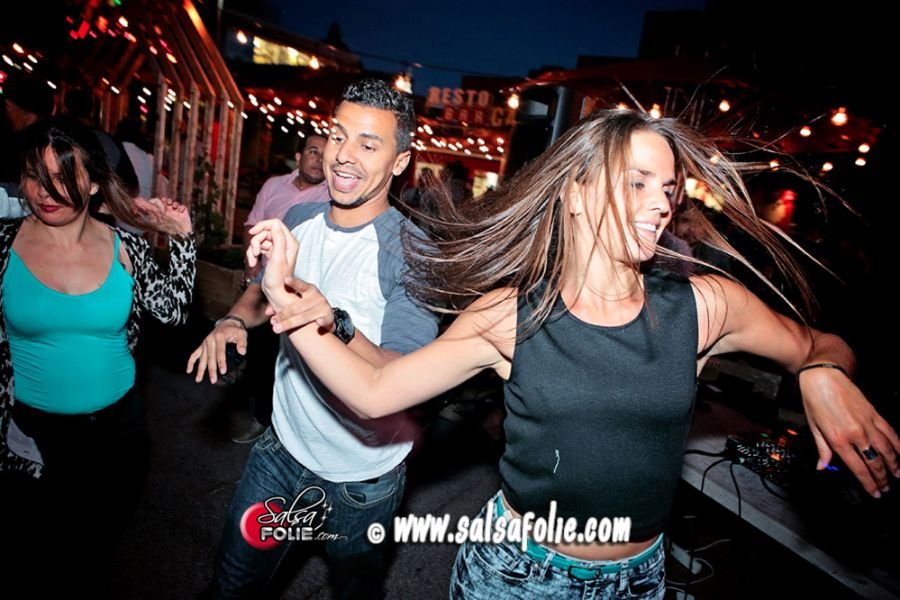 Salsafolie's dance night at Jardins Gamelin, in Quartier des Spectacles in Montreal, Canada