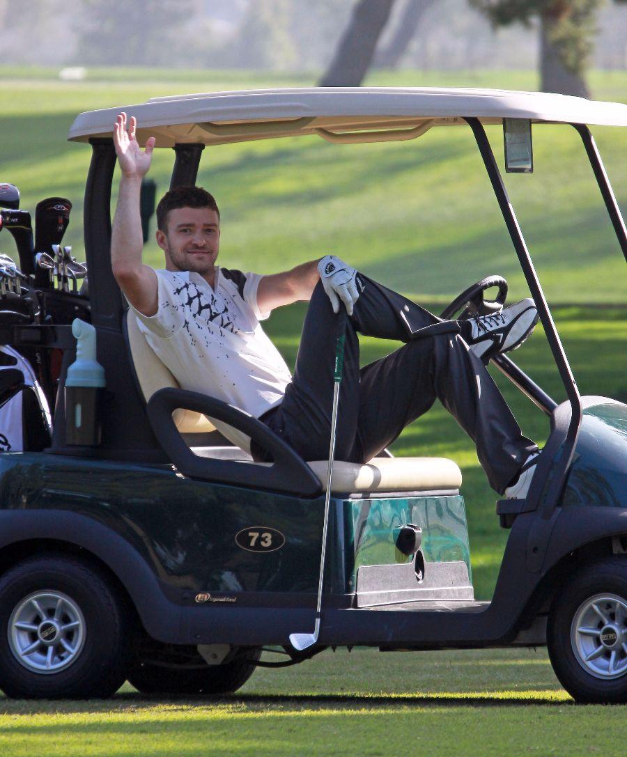 Justin Timerblake Golfing In Toluca Lake