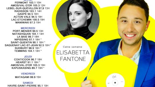 Cette semaine à Studio M : Elisabetta Fantone