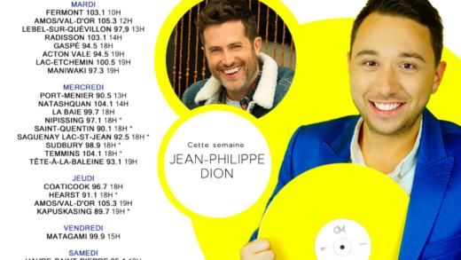 Cette semaine à Studio M : Jean-Philippe Dion