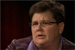 Lisa Furr, NCALL: woman wearing eyeglasses, short brown hair, speaking