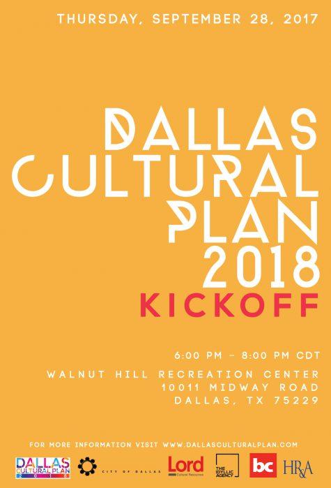 Dallas Cultural Plan Kick off event at Walnut HIll Recreation Center