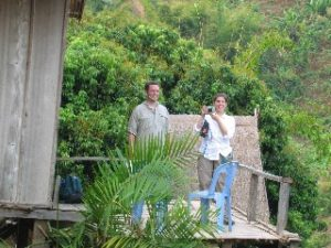 Anna and Lenny at Akha