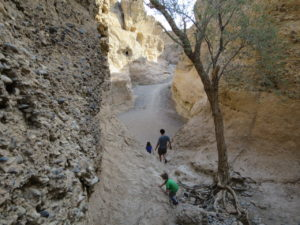 Scrambling Through Sesreim Canyon