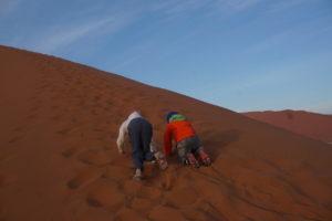 Avital and Eliav Climbing