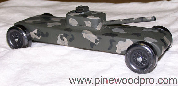 Pinewood Derby Military Tank Car Design Picture 09