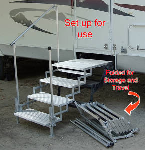 Don T Fall Down On The Road Get Rv Steps Rvshare Com