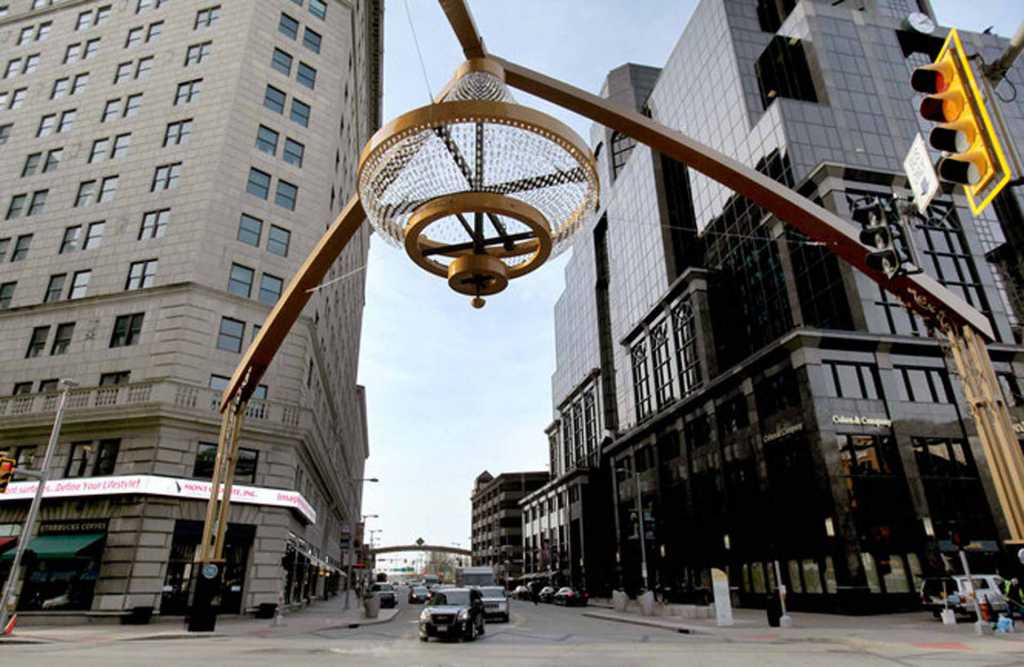 Steel-Playhouse-Square-Signage-Chandelier (2)