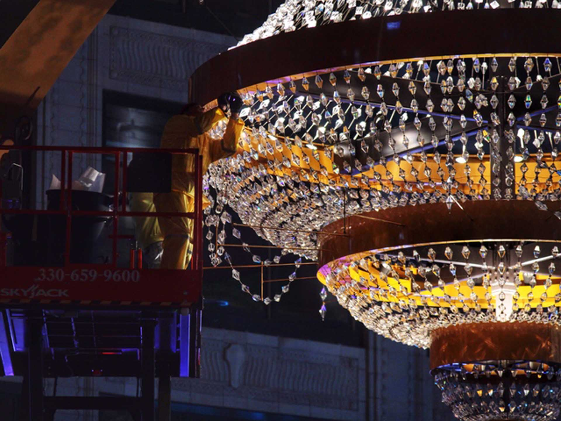 Playhouse Square Chandelier & Signage Industrial First