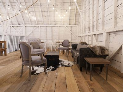 Farm at South Cove wedding venue furniture set up