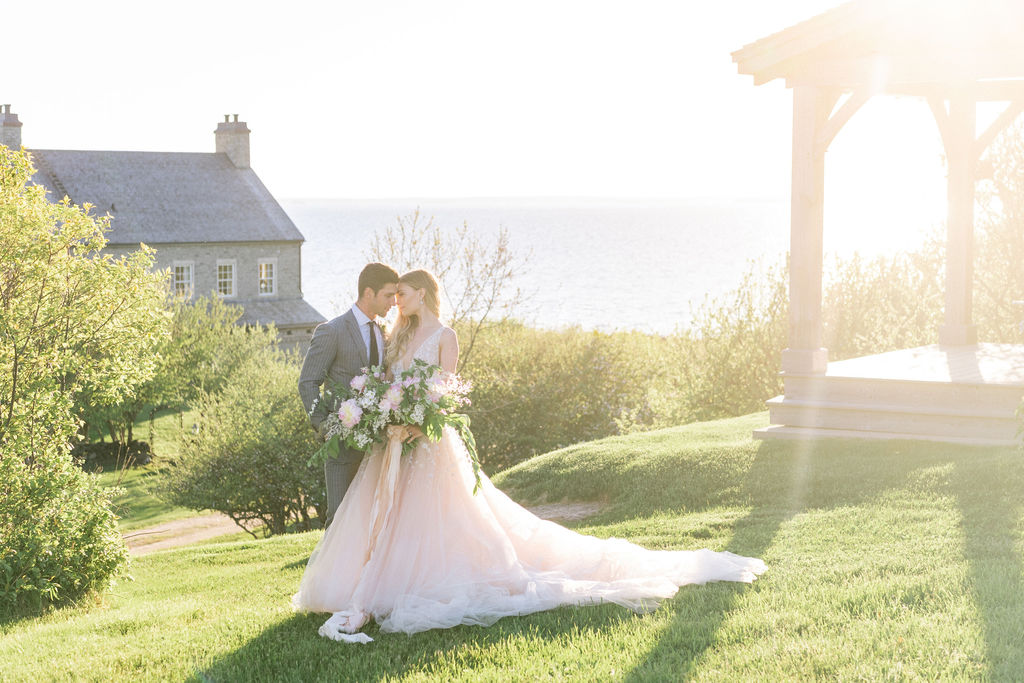 coastal Nova Scotia wedding shoot