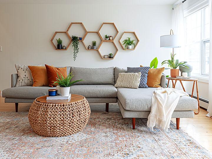 livingroom orange tones