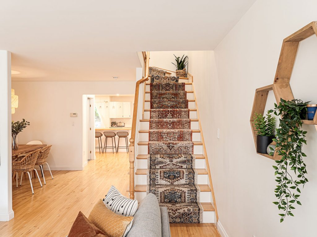 Mix and match stair runner