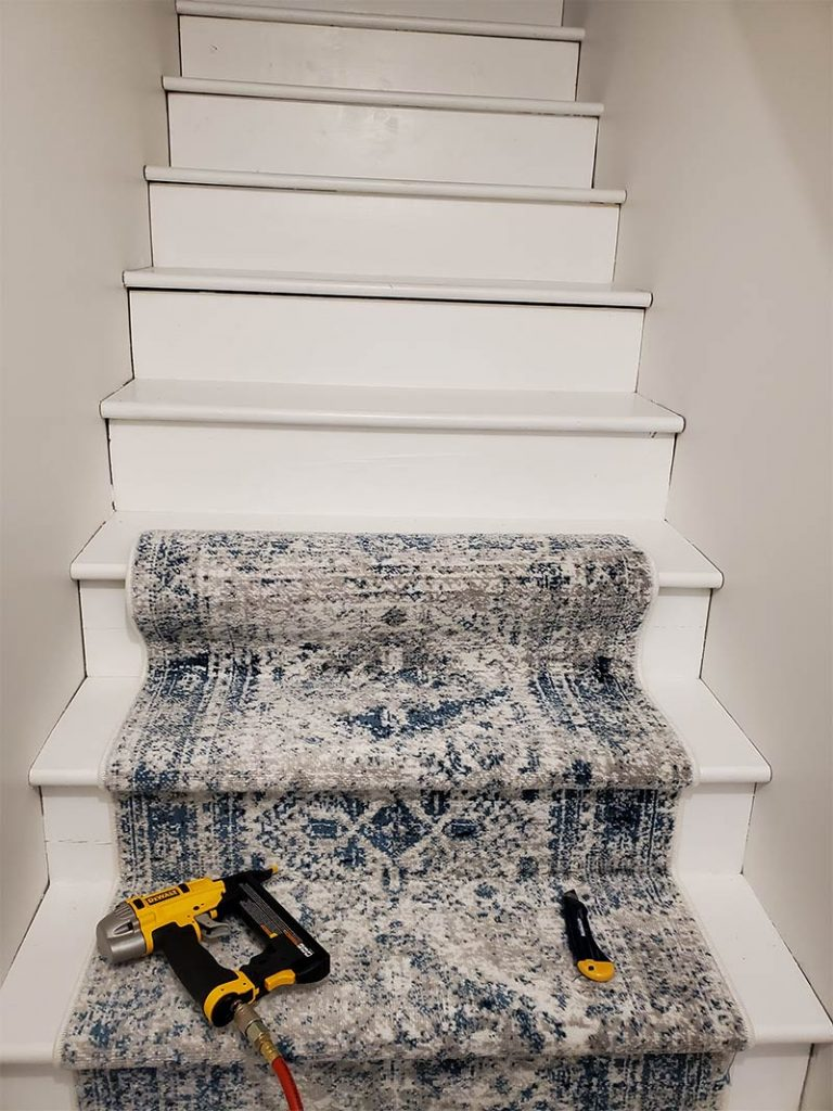 DIY stair runner installation yourself
